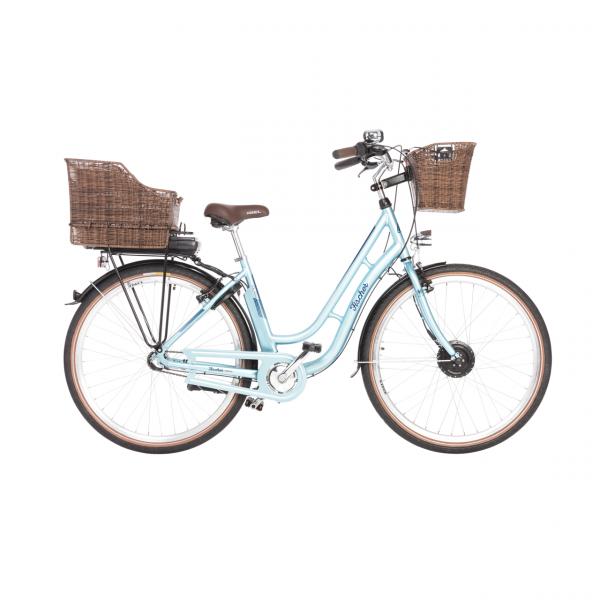 FISCHER ER 1804 Damen City E-Bike hellblau MJ 2018 (B-Ware / Generalüberholt)
