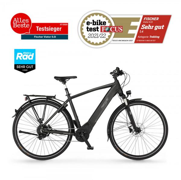 FISCHER Herren Trekking E-Bike VIATOR 6.0i - 504 Wh, 28 Zoll, RH 50 cm