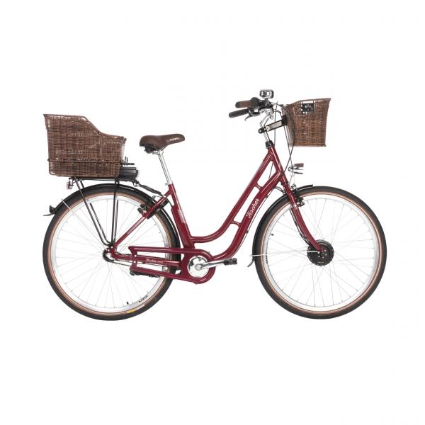 FISCHER ER 1804 Damen City E-Bike bordeaux MJ 2018 (B-Ware / Generalüberholt)